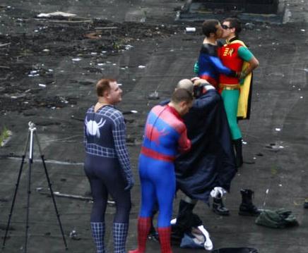 Batman and Superman Gay